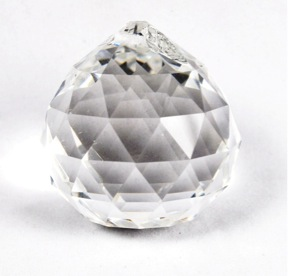 Clear Round Multi Faceted Crystal