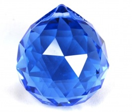Blue Round Multi Faceted Crystal