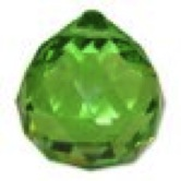 Green Round Multi Faceted Crystal