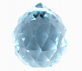 Light Blue Round Multi Faceted Crystal