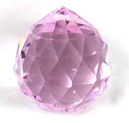 Pink Round Multi Faceted Crystal